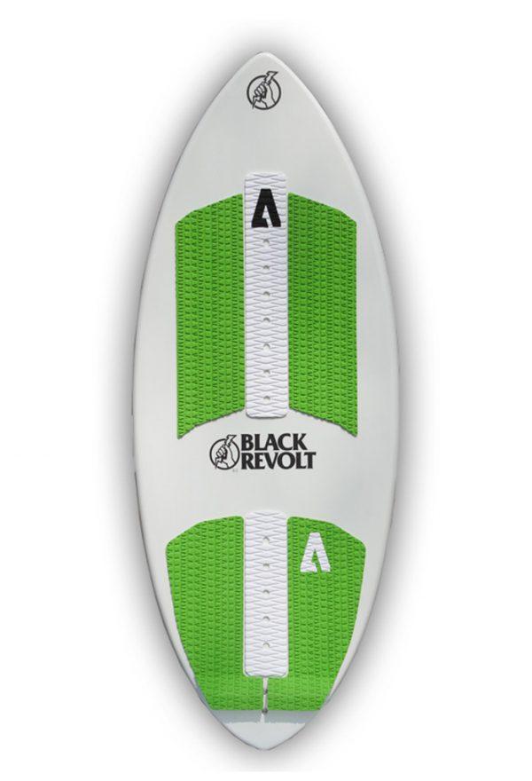 black revolt dagger wakesurf board white