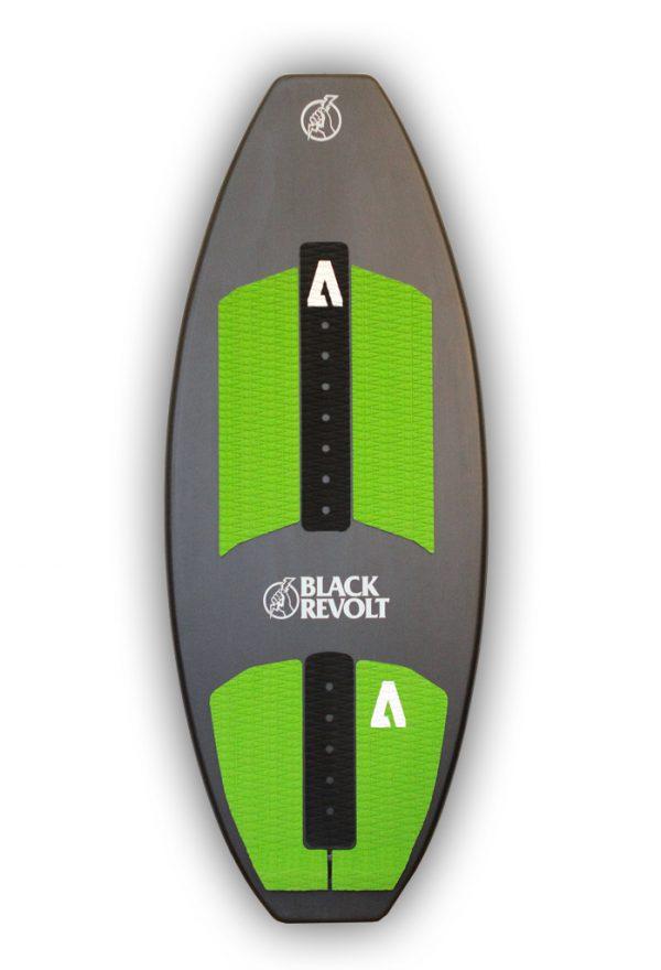black revolt cutlass skim carbone pads vert et noir