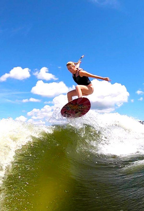 "jennifer edwards ollie air Stiletto Pro Carbon 4'0"" wakesurf 2020"