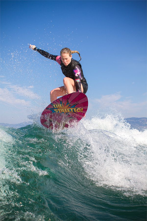 jennifer edwards stiletto skim wakesurf board